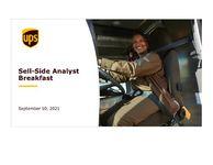 UPS Sell-side Analyst Breakfast